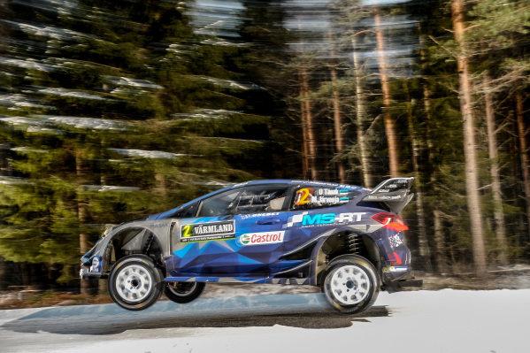 Ott Tanak (EST) / Martin Jarveoja (EST), M-Sport World Rally Team Ford Fiesta WRC at World Rally Championship, Rd2, Rally Sweden, Preparations and Shakedown, Karlstad, Sweden, 9 February 2017.