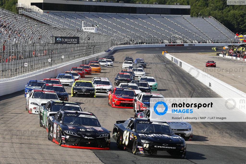 #93: Ryan Sieg, RSS Racing, Chevrolet Camaro RSS Racing and #19: Brandon Jones, Joe Gibbs Racing, Toyota Supra First Foundation