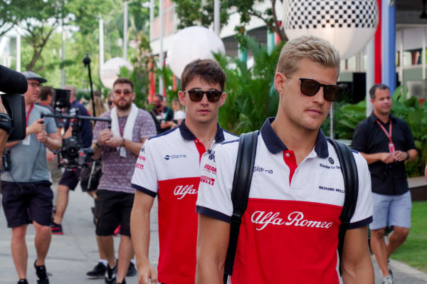 Charles Leclerc, Alfa Romeo Sauber F1 Team and Marcus Ericsson, Alfa Romeo Sauber F1 Team