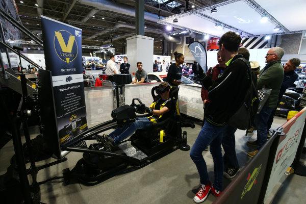 Autosport International Exhibition. National Exhibition Centre, Birmingham, UK. Sunday 14th January 2018. A Vesaro Virtual Relaity simulator.World Copyright: Mike Hoyer/JEP/LAT Images Ref: AQ2Y0114