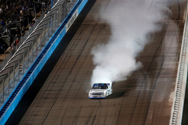 NASCAR Camping World Truck Series  Lucas Oil 150 Phoenix Raceway, Avondale, AZ USA Saturday 11 November 2017 Johnny Sauter, ISMConnect Chevrolet Silverado burnout World Copyright: Michael L. Levitt LAT Images