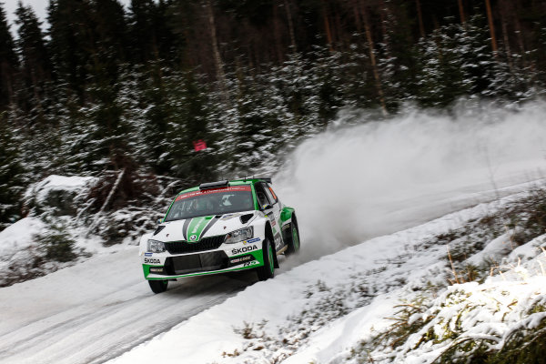 2017 FIA World Rally Championship, Round 02, Rally Sweden, February 09-12, 2017, Pontus Tidemand, Skoda, Action Worldwide Copyright: McKlein/LAT
