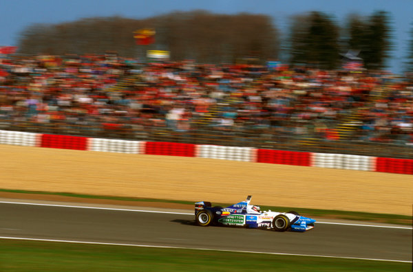 Nurburgring, Germany.26-28 April 1996.Gerhard Berger (Benetton B196 Renault) 9th position.Ref-96 EUR 11.World Copyright - LAT Photographic
