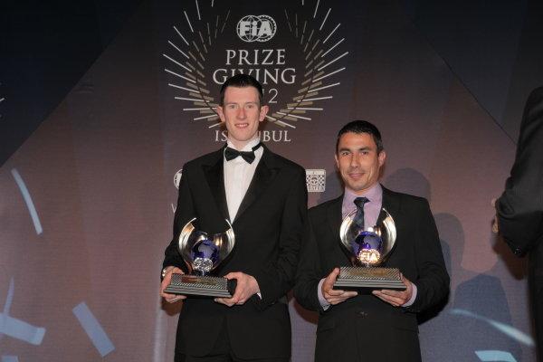 FIA WRC Academy Cup - Elyfn Evans (GBR) and Candido Ferrera. FIA Prize Giving Gala, Istanbul, Turkey, 7 December 2012.