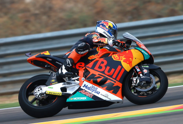 2017 Moto2 Championship - Round 14 Aragon, Spain. Friday 22 September 2017 Miguel Oliveira, Red Bull KTM Ajo World Copyright: Gold and Goose / LAT Images ref: Digital Image 693611