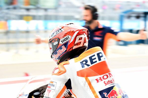 2017 MotoGP Championship - Round 14 Aragon, Spain. Friday 22 September 2017 Marc Marquez, Repsol Honda Team World Copyright: Gold and Goose / LAT Images ref: Digital Image 693756
