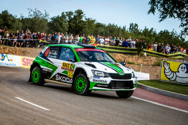 2017 FIA World Rally Championship, Round 11, Rally RACC Catalunya / Rally de España, 5-8 October, 2017, Juuso Nordgren, Skoda, action, Worldwide Copyright: LAT/McKlein