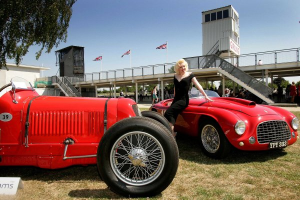 2006 Goodwood Revival Press Day.  Goodwood, West Sussex. 19th July 2006.  Marilyn Monroe at Goodwood. World Copyright: Gary Hawkins/LAT Photographic.  Ref: Digital Image Only.