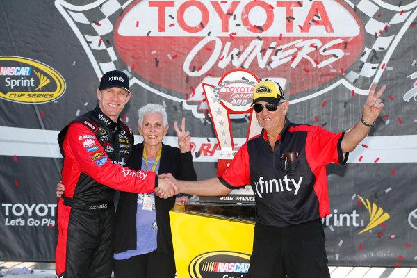22-24 April, 2016, Richmond, Virginia USA  Carl Edwards, XFINITY Toyota Camry celebrates in victory lane ©2016, Russell LaBounty LAT Photo USA