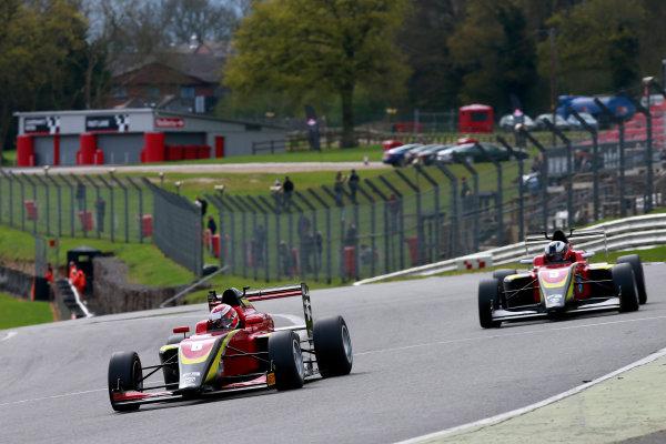 2016 BRDC British Formula 3 Championship, Brands Hatch, Kent. 16th - 17th April 2016. Krishnaraaj Mahadik (IND) Chris Dittmann Racing BRDC F3. World Copyright: Ebrey / LAT Photographic.