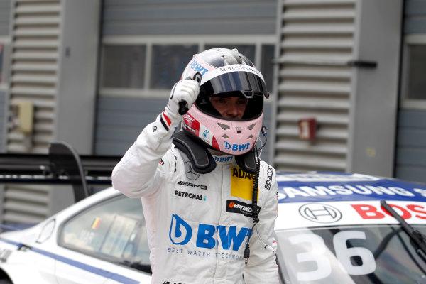2017 DTM Round 2 Lausitzring, Germany. Saturday 20 May 2017. Polesitter Lucas Auer, Mercedes-AMG Team HWA, Mercedes-AMG C63 DTM World Copyright: Alexander Trienitz/LAT Images ref: Digital Image 2017-DTM-R2-ESL-AT1-1554