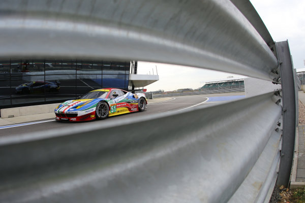 2015 FIA World Endurance Championship, Silverstone, England. 10th-12th April 2015 Gianmaria BRUNI, Toni VILANDER, AF Corse Ferrari F458 Italia  World copyright. Ebrey/LAT Photographic