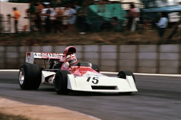 Kyalami, South Africa. 1-3 March 1973.Clay Regazzoni (B.R M. P160D), 6th position, action. World Copyright: LAT Photographic.Ref:  73SA04.