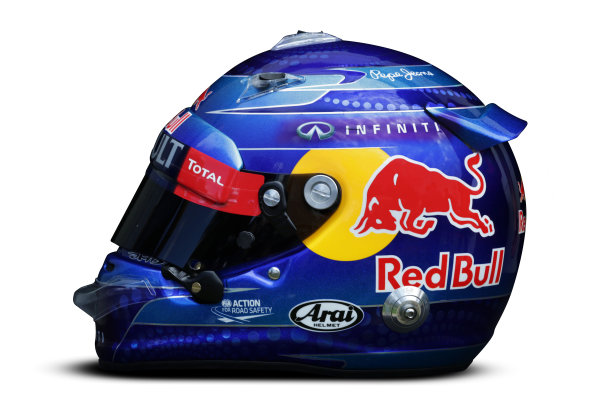 Albert Park, Melboune 14th March 2013 The helmet of Sebastian Vettel, Red Bull Racing. World Copyright: LAT Photographic ref: Digital Image DKAL8677