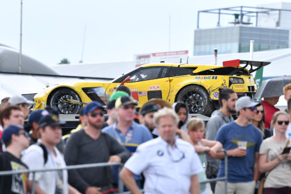 IMSA WeatherTech SportsCar Championship Mobil 1 SportsCar Grand Prix Canadian Tire Motorsport Park Bowmanville, ON CAN Sunday 9 July 2017 4, Chevrolet, Corvette C7.R, GTLM, Oliver Gavin, Tommy Milner World Copyright: Richard Dole/LAT Images ref: Digital Image DOLE_CTMP_17_001418