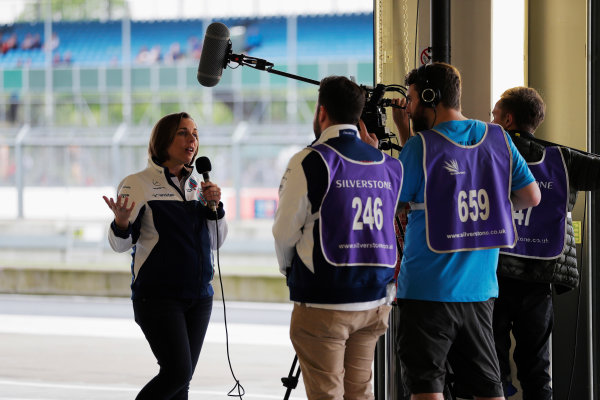 Williams 40 Event Silverstone, Northants, UK Friday 2 June 2017. Claire Williams talks to the media. World Copyright: Zak Mauger/LAT Images ref: Digital Image _54I2004