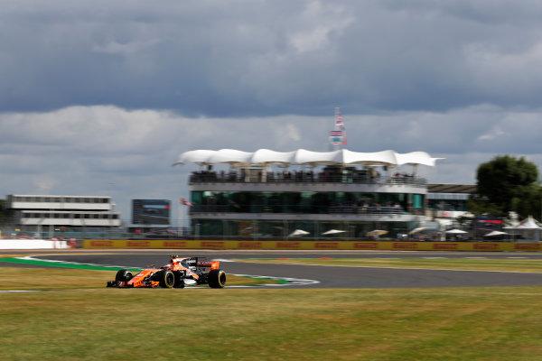 Silverstone, Northamptonshire, UK.  Friday 14 July 2017. Stoffel Vandoorne, McLaren MCL32 Honda. World Copyright: Zak Mauger/LAT Images  ref: Digital Image _54I4364