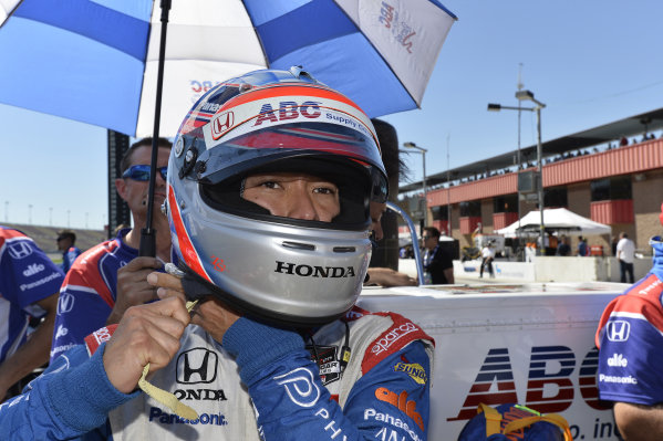 Takuma Sato (JPN) Foyt Enterprises.Verizon IndyCar Series, Rd18, MAVTV 500, Auto Club Speedway, Fontana, USA, 29-30 August 2014.