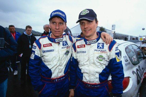 2002 World Rally ChampionshipTour De Corse, Corsica. 8th - 10th March 2002.Gilles Panizzi / Herve Panizzi, Peugeot 206 WRC, 1st position overall. Portrait.World Copyright: McKlein/LAT Photographicref: 35mm Image 02 WRC 02