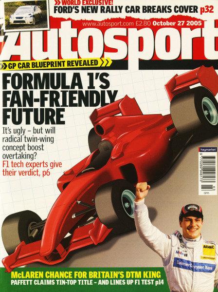 Cover of Autosport magazine, 27th October 2005