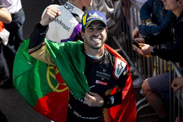 Antonio Felix da Costa (PRT), DS Techeetah, DS E-Tense FE20 celebrates after winning the race