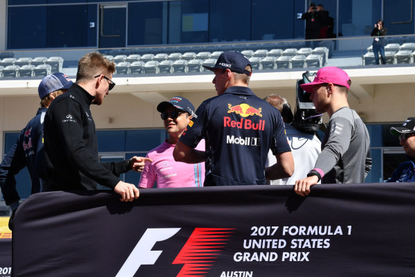 Drivers parade at Formula One World Championship, Rd17, United States Grand Prix, Race, Circuit of the Americas, Austin, Texas, USA, Sunday 22 October 2017.