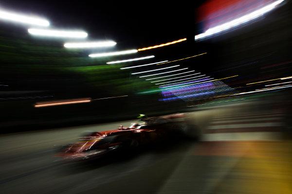 Marina Bay Circuit, Marina Bay, Singapore. Friday 16 September 2016. Kimi Raikkonen, Ferrari SF16-H. World Copyright: Sam Bloxham/LAT Photographic ref: Digital Image _SBB1488