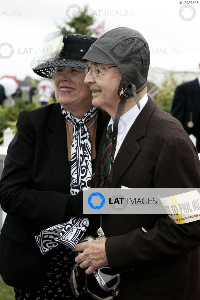2006 Goodwood Revival Meeting. Goodwood, West Sussex. 2nd - 3rd September 2006 Phil Hill with his wife.World Copyright: Gary Hawkins/LAT Photographic ref: Digital Image Only