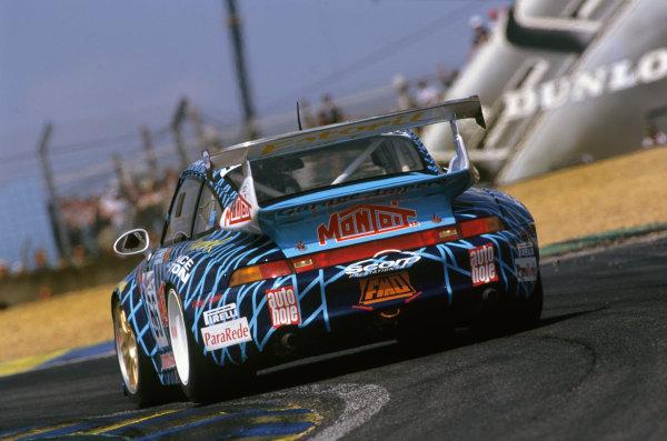 Le Mans, France. 12th - 13th June 1999.Manuel Monteiro/Michel Monteiro/Michel Maisonneuve (Porsche 911 GT2), retired, action. World Copyright: LAT Photographic.Ref:  99LM19.