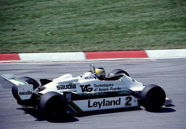 1981 Austrian Grand Prix.Osterreichring, Zeltweg, Austria.14-16 August 1981.Carlos Reutemann (Williams FW07C Ford) 5th position.Ref-81 AUT 32.World Copyright - LAT Photographic