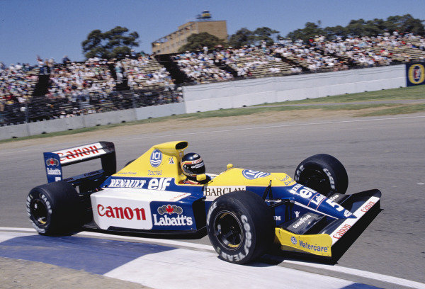 1990 Australian Grand Prix.Adelaide, Australia. 2-4 November 1990. Thierry Boutsen (Williams FW13B Renault) 1st position .Ref-89 AUS 43.World Copyright - LAT Photographic