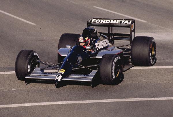 1991 United States Grand Prix.Phoenix, Arizona, USA.8-10 March 1991.Olivier Grouillard (Fomet FA1M-E Ford).Ref-91 USA 42.World Copyright - LAT Photographic