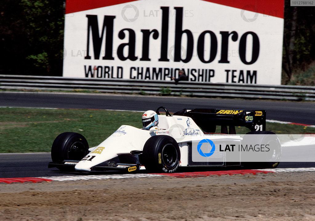 1984 Belgian Grand Prix.Zolder, Belgium.27-29 April 1984.Mauro Baldi (Spirit 101 Hart).Ref-84 BEL 36.World Copyright - LAT Photographic