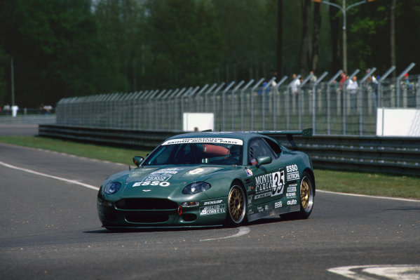 1995 Le Mans 24 Hours. Le Mans, France. 17th - 18th June 1995. Eric Helary/Alain Cudini/Stephane Gregoire (Aston Martin DB7), DNPQ, did not pre-qualify, action.  World Copyright: LAT Photographic. Ref:  95LM42