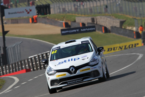 2014 Renault Clio Cup, Brands Hatch, Kent. 28th - 30th March 2014. Jordan Stilp (GBR) 20Ten Racing Renault Clio Cup. World Copyright: Ebrey / LAT Photographic.