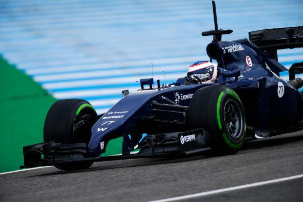 2014 F1 Pre Season Test 1 - Day 2 Circuito de Jerez, Jerez, Spain. Wednesday 29 January 2014. Valtteri Bottas, Williams FW36 Mercedes. World Copyright: Glenn Dunbar/LAT Photographic. ref: Digital Image _W2Q9303.JPG
