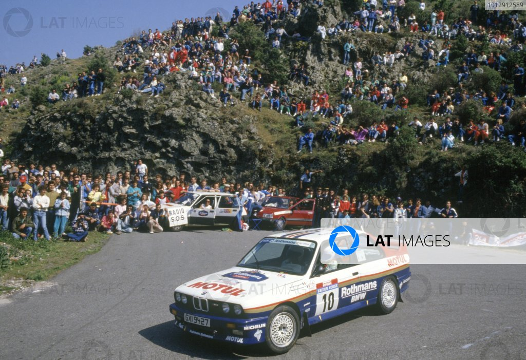 1987 World Rally Championship.Tour de Corse, Corsica, France. 7-9 May 1987.Bernard Beguin/Jean-Jacques Lenne (BMW M3), 1st position.World Copyright: LAT PhotographicRef: 35mm transparency 87RALLY15