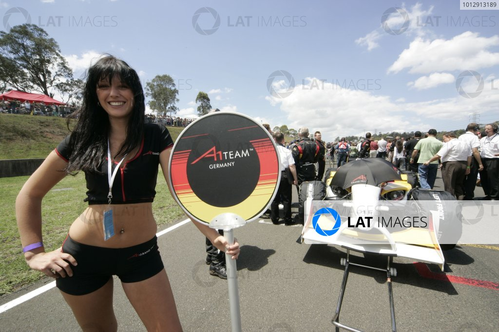 2005 A1 Grand Prix Championship.Round 4, Eastern Creek. 4th - 6th November 2005.German Grid girlWorld Copyright: Batchelor/LATref: Digital Image Only