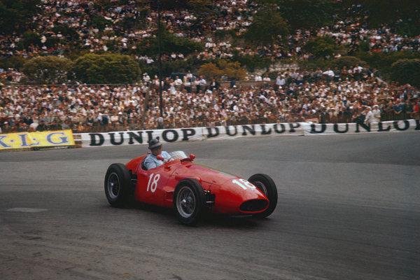 Monte Carlo, Monaco. 10-13 May 1956. Horace Gould (Maserati 250F) 8th position. Ref: 56MON11. World Copyright - LAT Photographic