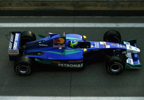 2002 signing Felippe Massa (BRA) has so far impressed in testing for Sauber Petronas. Formula One Testing, Barcelona, Spain. 27-31 January 2002. BEST IMAGE