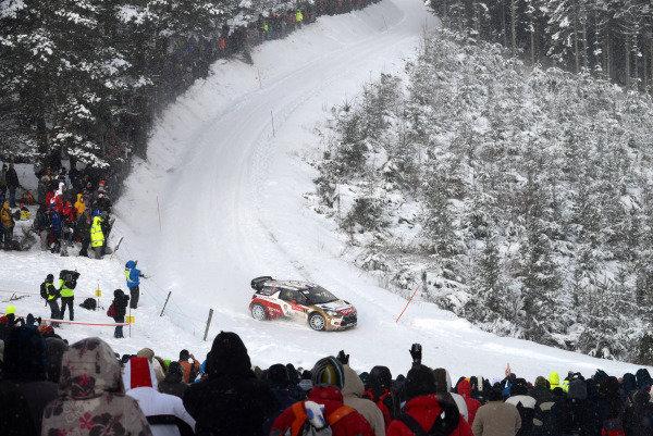 Sebastien Loeb (FRA) and Daniel Elena (MC), Citroen DS3 WRC on stage 6. FIA World Rally Championship, Rd1, Rally Monte Carlo, Day Two, Monte Carlo, 17 January 2013.