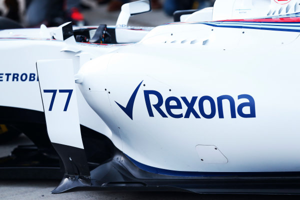2015 F1 Pre Season Test 1 - Day 1 Circuito de Jerez, Jerez, Spain. Sunday 1 February 2015. Williams FW37 sidepod. World Copyright: Alastair Staley/LAT Photographic. ref: Digital Image _R6T3098