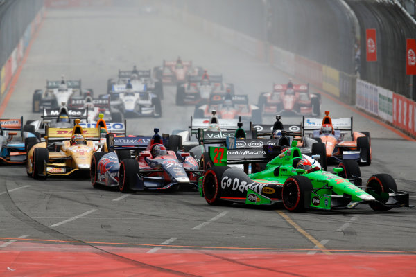 4-5 May, 2013, Sao Paulo, Brazil James Hinchcliffe races through turn 1 © 2013, Michael L. Levitt LAT Photo USA.