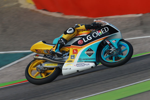 2017 Moto3 Championship - Round 14 Aragon, Spain. Saturday 23 September 2017 Gabriel Rodrigo, RBA Racing Team World Copyright: Gold and Goose / LAT Images ref: Digital Image 14008