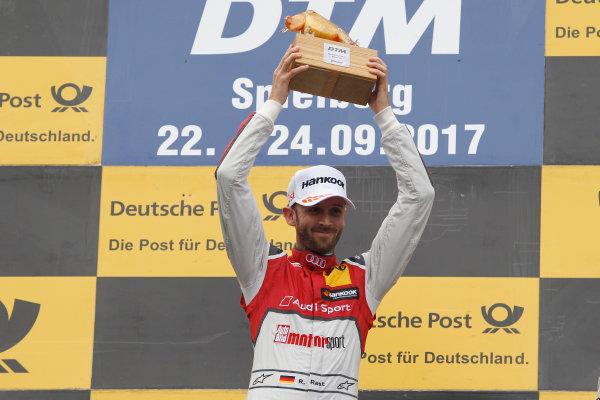 2017 DTM Round 8  Red Bull Ring, Spielberg, Austria  Sunday 24 September 2017. Podium: Race winner René Rast, Audi Sport Team Rosberg, Audi RS 5 DTM  World Copyright: Alexander Trienitz/LAT Images ref: Digital Image 2017-DTM-RBR-AT3-2742