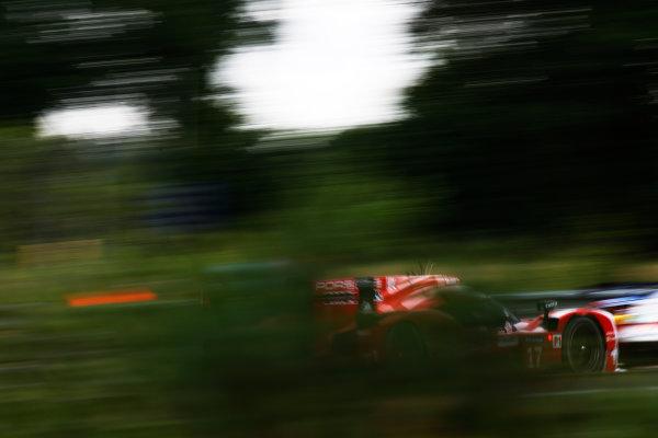 2015 Le Mans 24 Hours. Circuit de la Sarthe, Le Mans, France. Wednesday 10 June 2015. Porsche Team (Porsche 919 Hybrid - LMP1), Timo Bernhard, Mark Webber, Brendon Hartley.  Photo: Sam Bloxham/LAT Photographic. ref: Digital Image _G7C5137