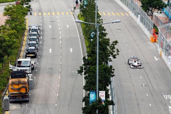 FIA Formula E Hong Kong e-Prix. Shakedown. Loic Duval (FRA), Dragon Racing, Spark-Penske, Penske 701-EV. Hong Kong Harbour, Hong Kong, Asia. Saturday 8 October 2016. Photo: Adam Warner / FE / LAT ref: Digital Image _L5R7294