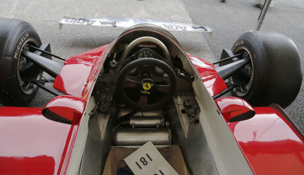 2015 Goodwood Festival of Speed.  Goodwood Estate, West Sussex, England. 25th - 28th June 2015.  Cockpit of Ferrari 126CK.  Ref: KW5_3483a. World copyright: Kevin Wood/LAT Photographic