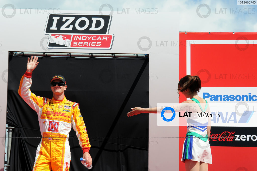 15-18 September, 2011, Twin Ring Motegi JapanRyan Hunter-Reay is introduced to the crowd.(c)2011, Paul WebbLAT Photo USA