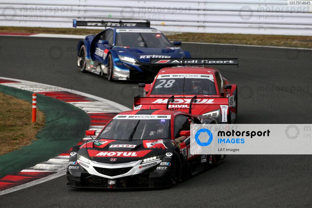 Daisuke Nakajima, Team Mugen Honda NSX-GT, Loic Duval, Audi Sport Team Phoenix Audi RS5 DTM.
